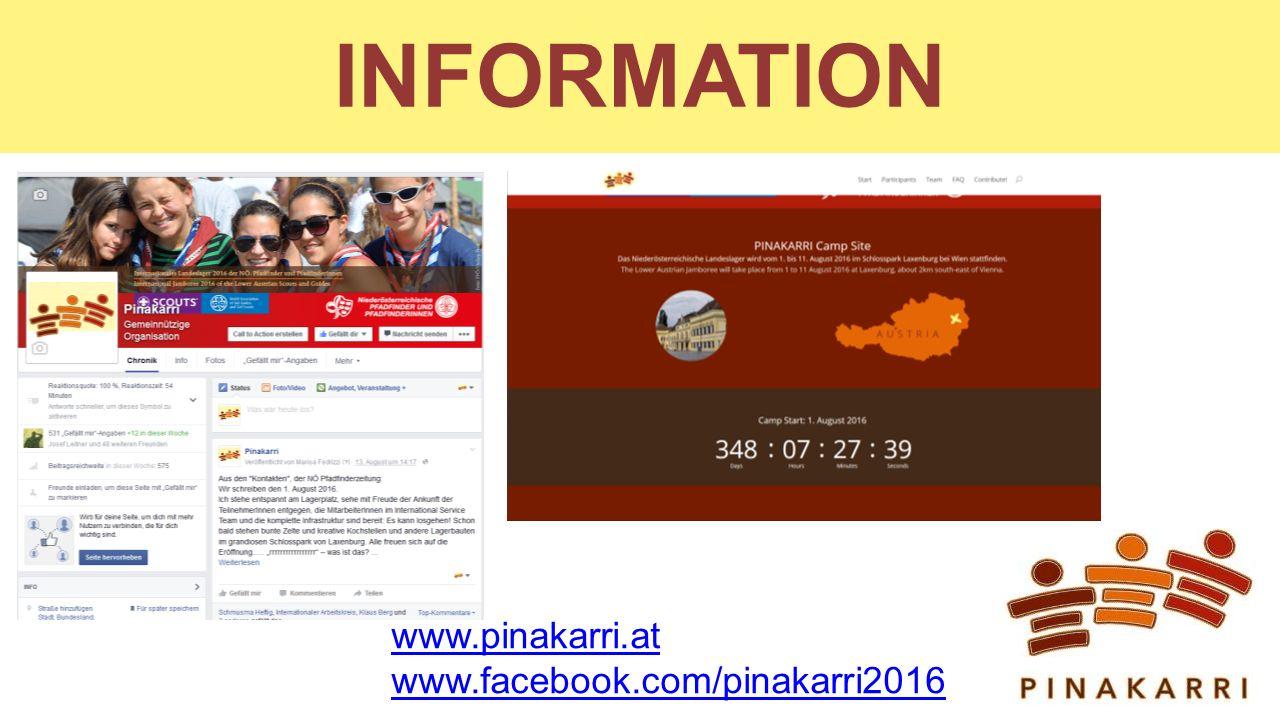 INFORMATION www.pinakarri.at www.facebook.com/pinakarri2016