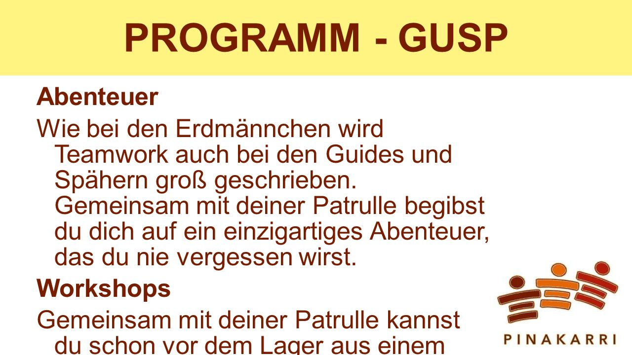 PROGRAMM - GUSP