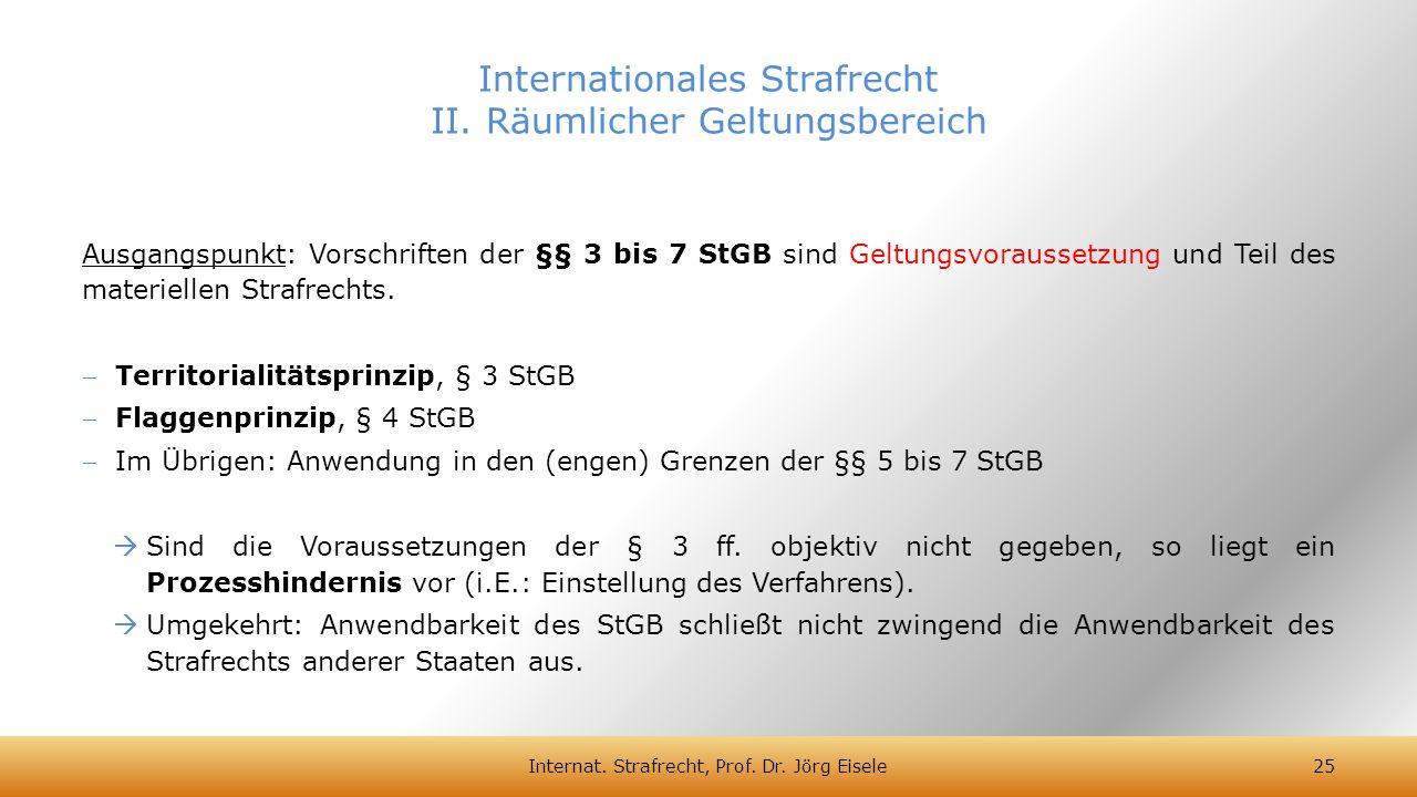 Internationales Strafrecht II. Räumlicher Geltungsbereich