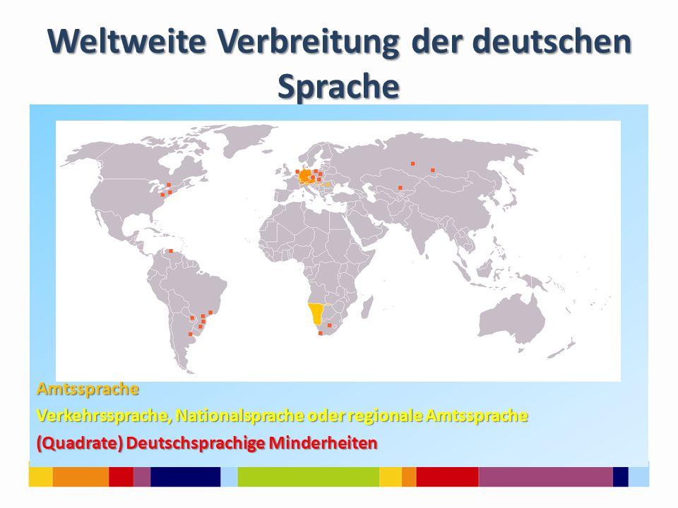 Weltweite Verbreitung der deutschen Sprache