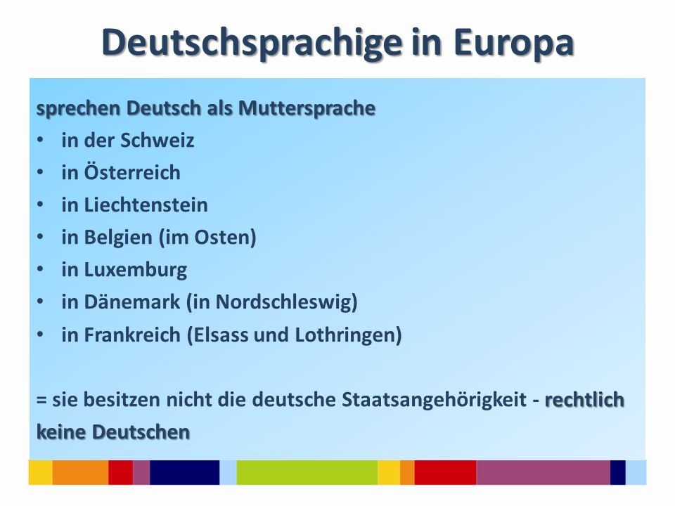 Deutschsprachige in Europa