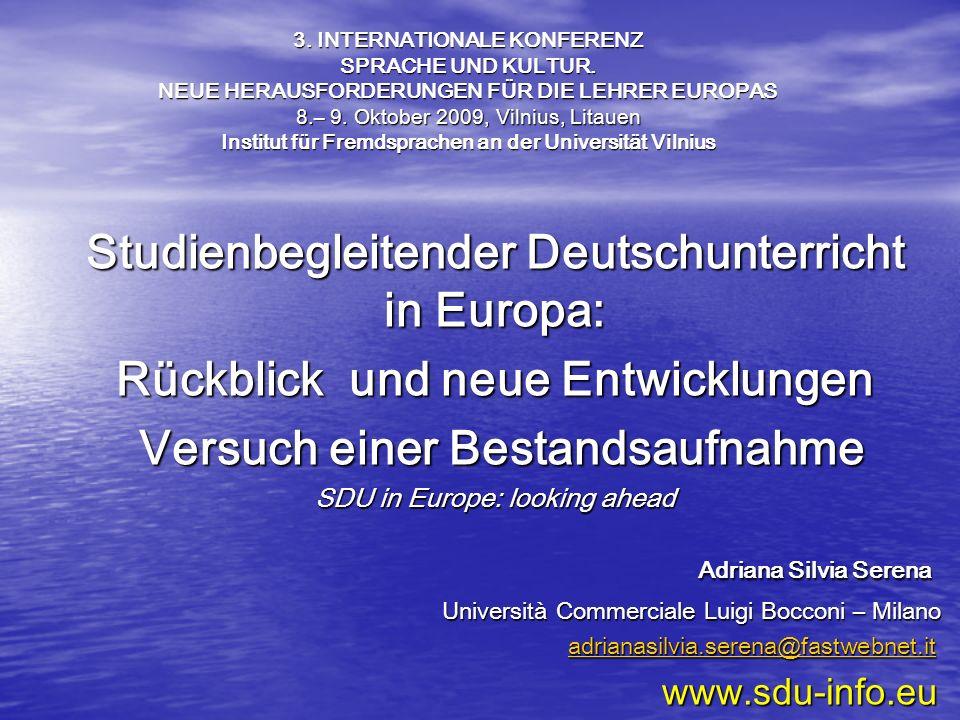 Studienbegleitender Deutschunterricht Rückblick und neue Entwicklungen