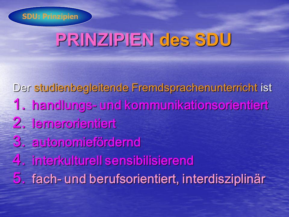PRINZIPIEN des SDU handlungs- und kommunikationsorientiert