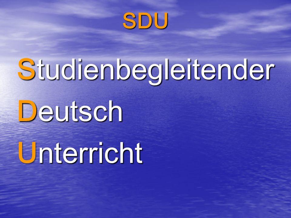 Studienbegleitender Deutsch Unterricht