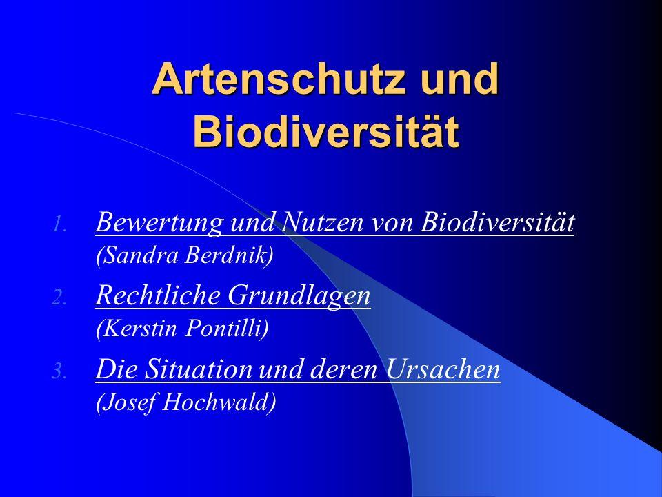Artenschutz und Biodiversität