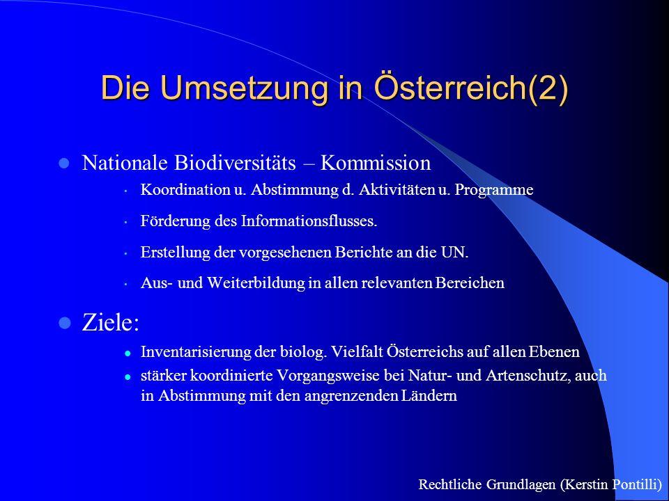 Die Umsetzung in Österreich(2)