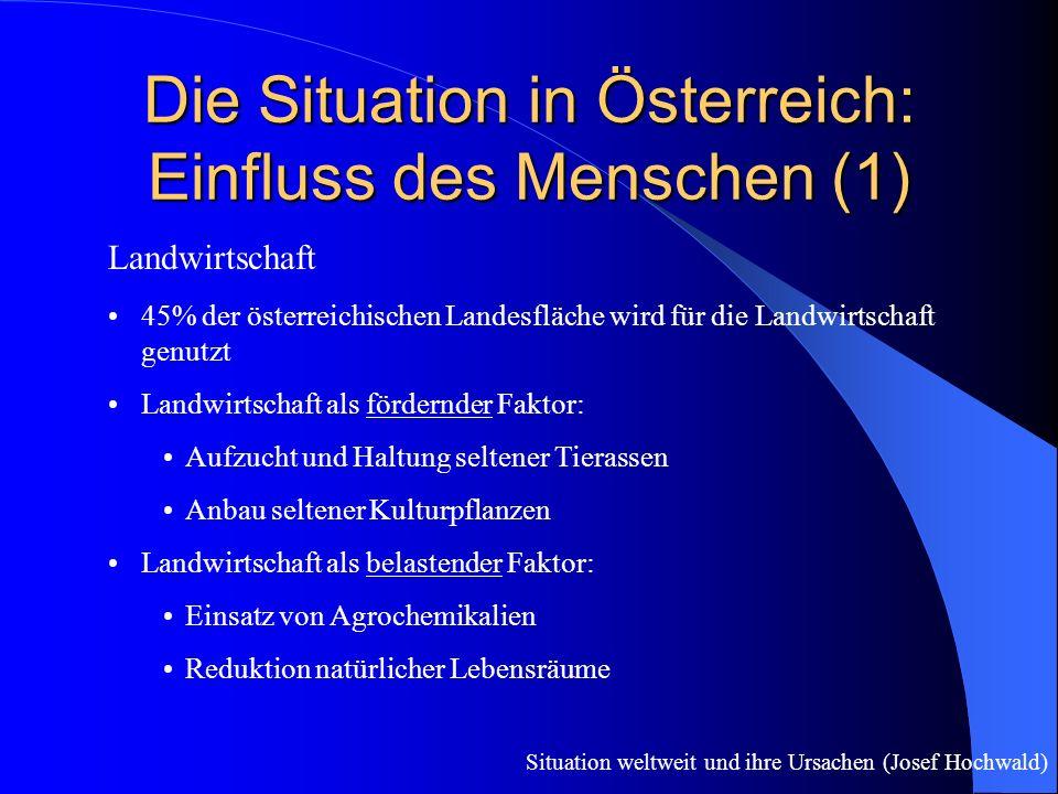 Die Situation in Österreich: Einfluss des Menschen (1)