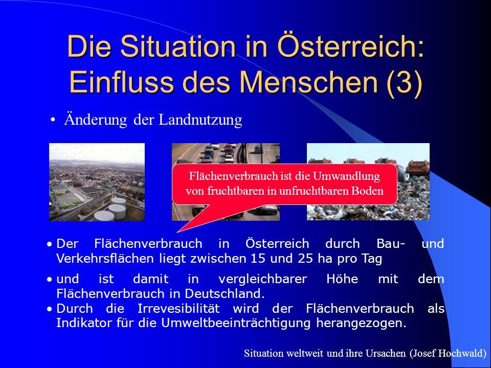 Die Situation in Österreich: Einfluss des Menschen (3)