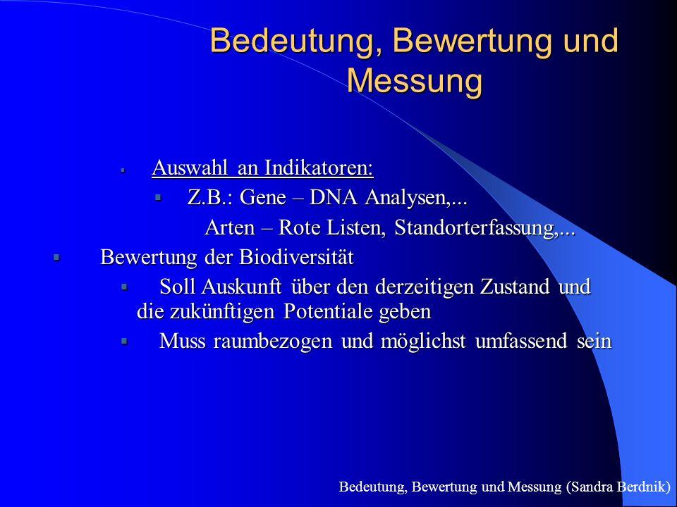 Bedeutung, Bewertung und Messung