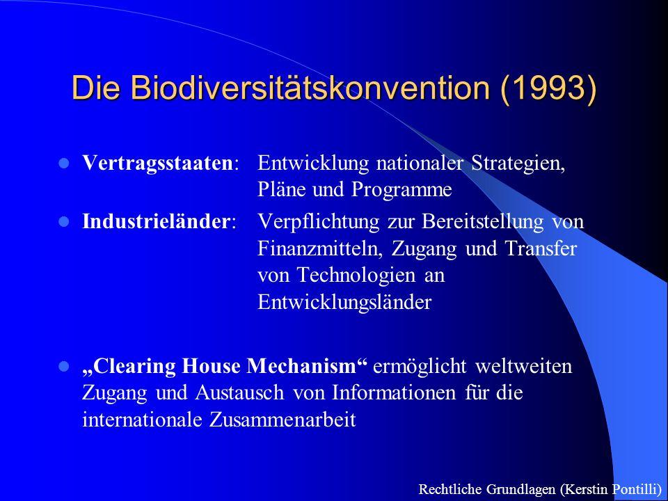 Die Biodiversitätskonvention (1993)