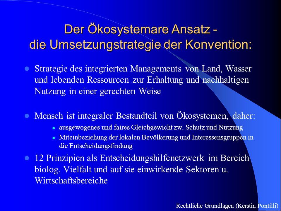 Der Ökosystemare Ansatz - die Umsetzungstrategie der Konvention: