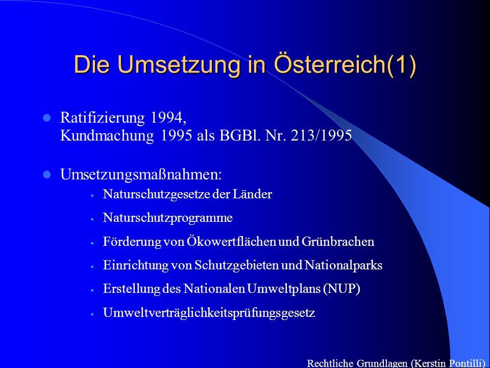 Die Umsetzung in Österreich(1)