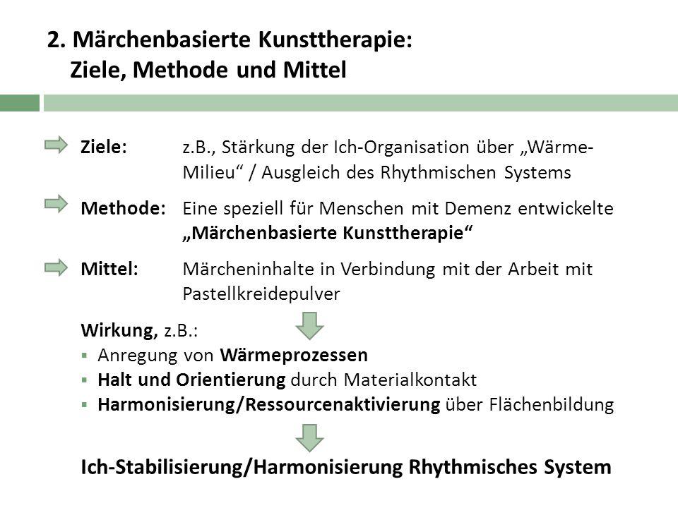 2. Märchenbasierte Kunsttherapie: Ziele, Methode und Mittel