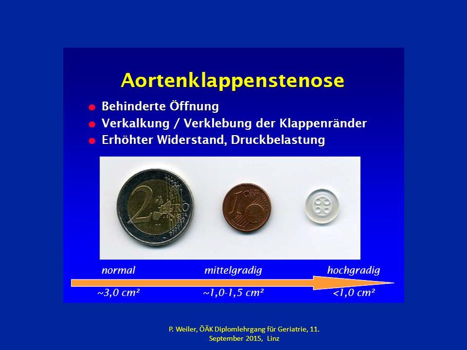 P. Weiler, ÖÄK Diplomlehrgang für Geriatrie, 11. September 2015, Linz