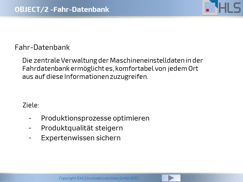 OBJECT/2 -Fahr-Datenbank