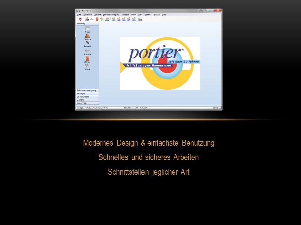 Modernes Design & einfachste Benutzung Schnelles und sicheres Arbeiten