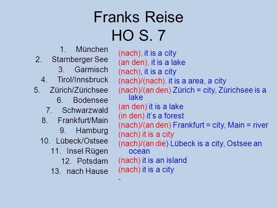 Franks Reise HO S. 7 München Starnberger See Garmisch Tirol/Innsbruck