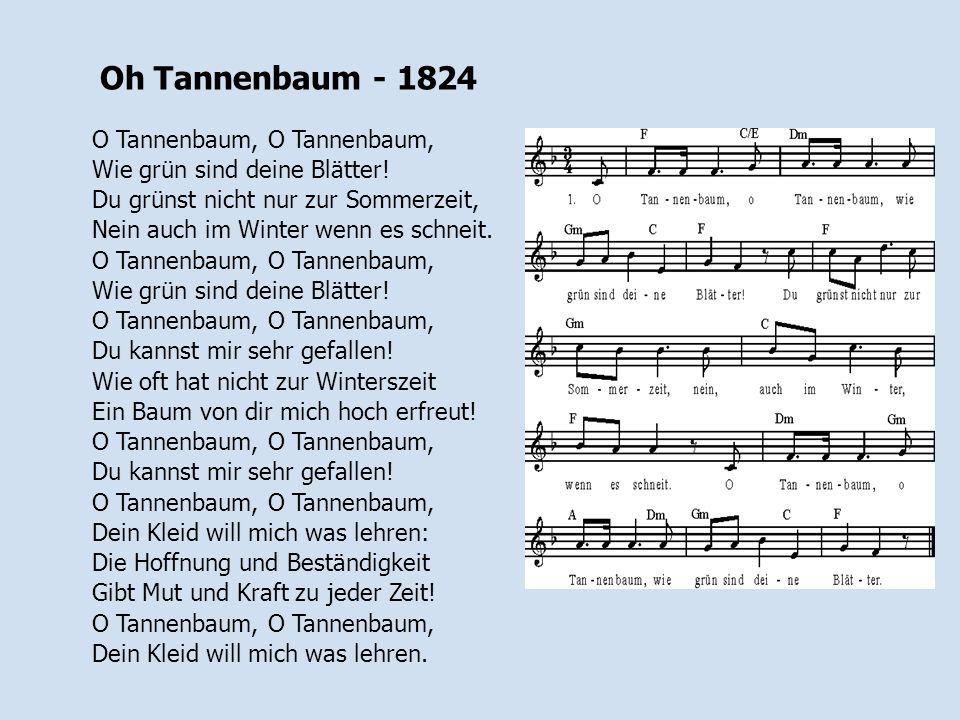Oh Tannenbaum - 1824