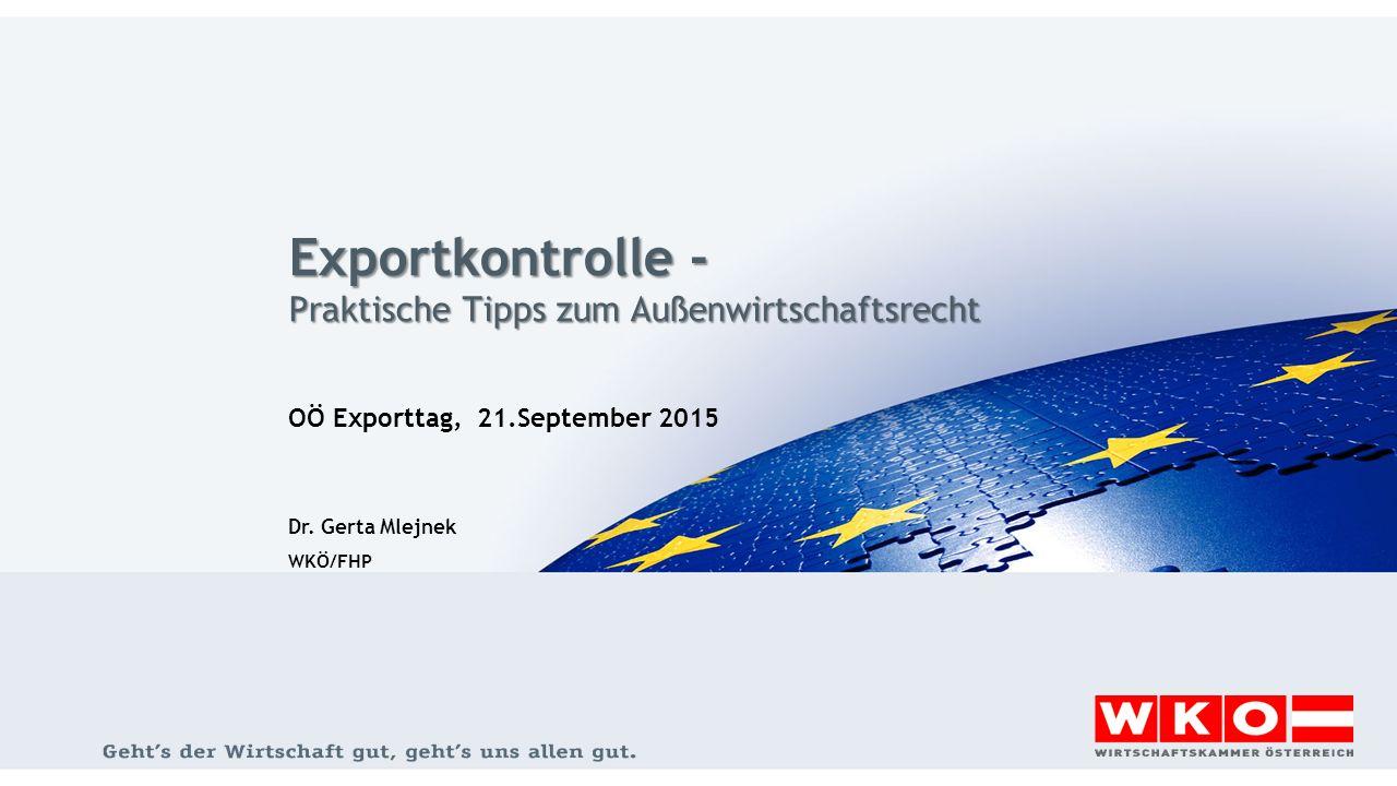 Exportkontrolle - Praktische Tipps zum Außenwirtschaftsrecht