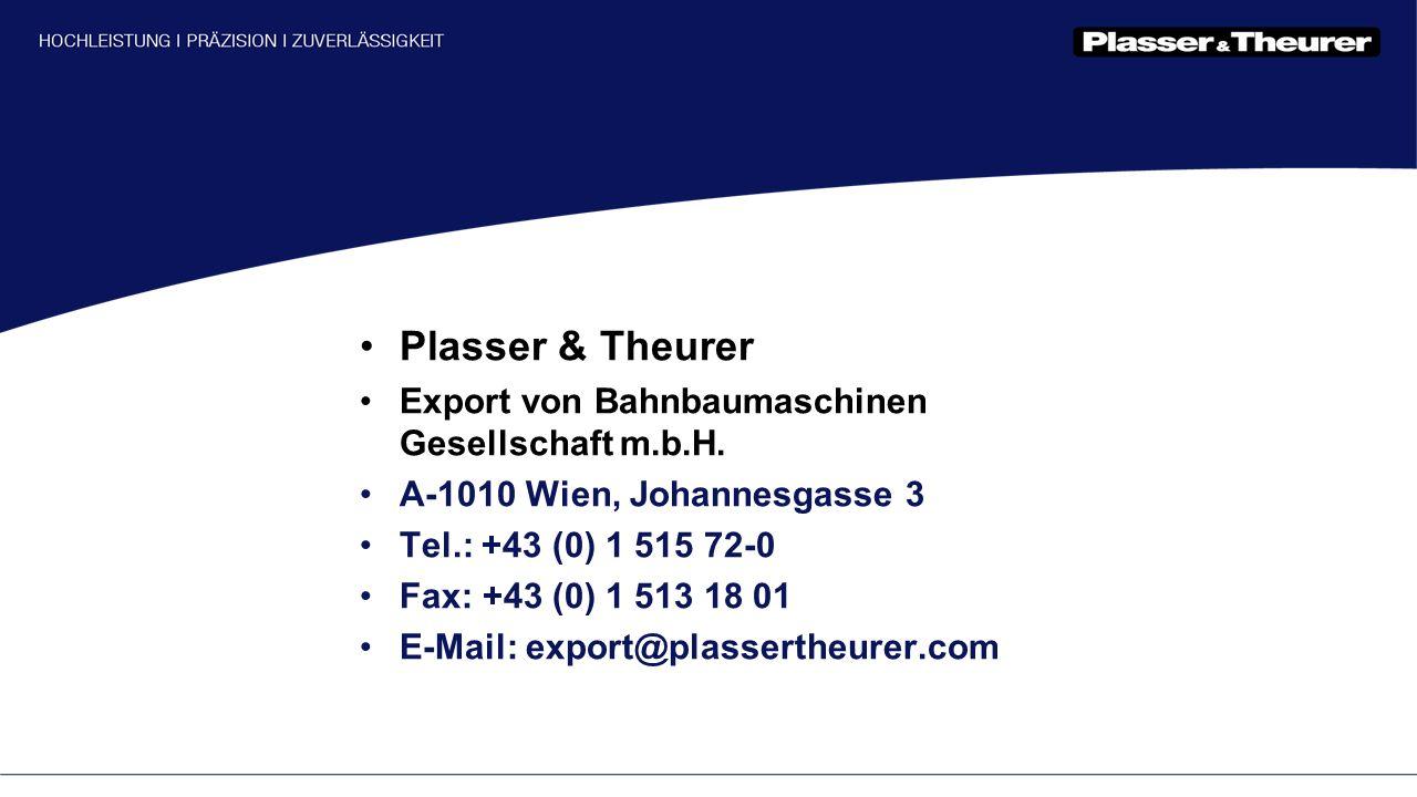 Plasser & Theurer Export von Bahnbaumaschinen Gesellschaft m.b.H.