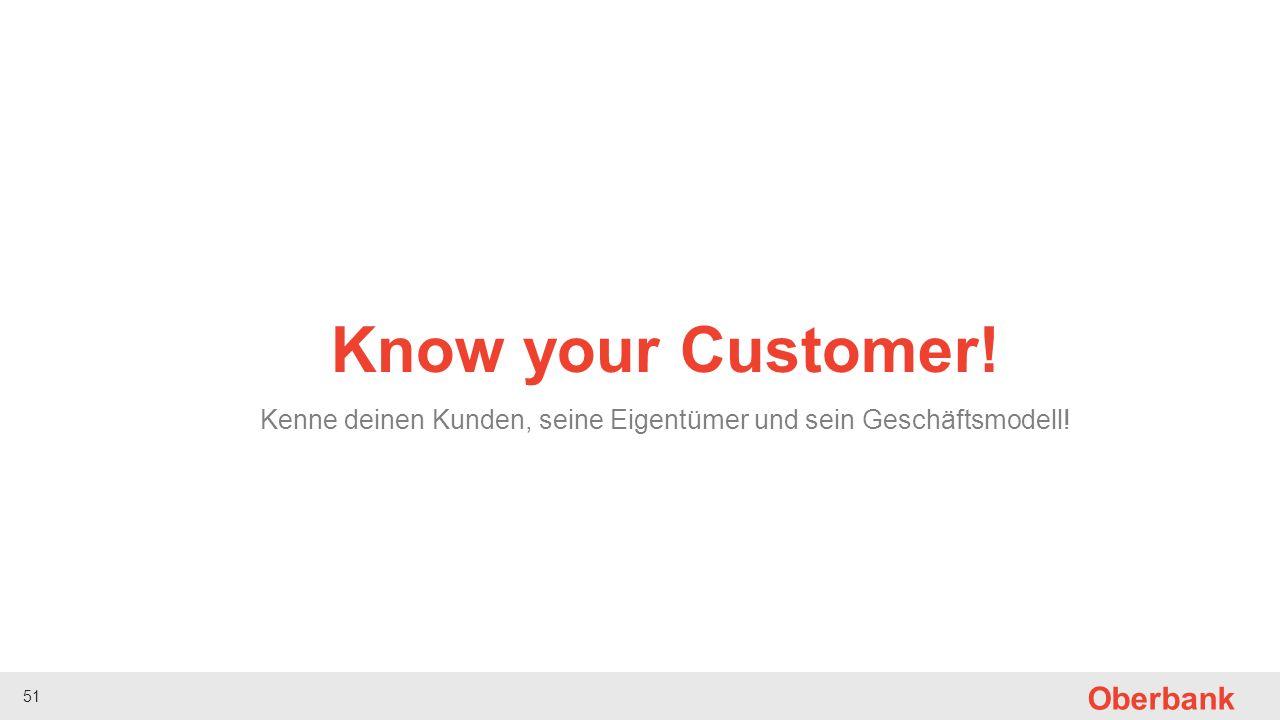 Kenne deinen Kunden, seine Eigentümer und sein Geschäftsmodell!