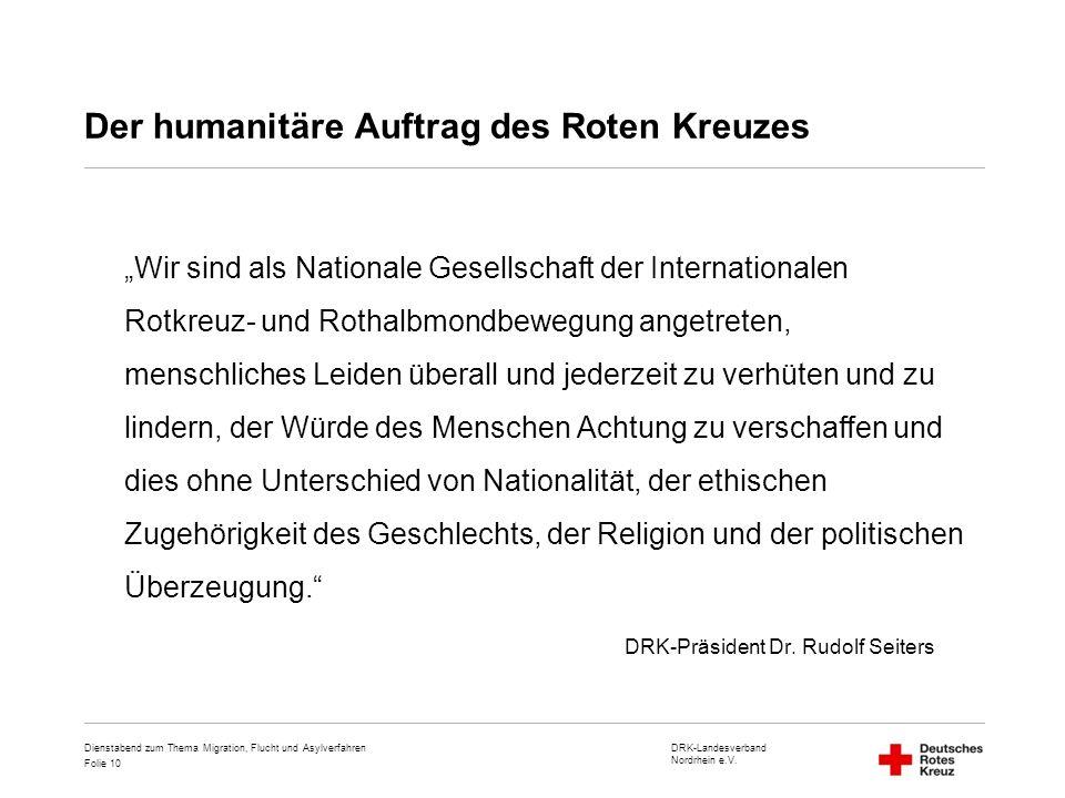 Der humanitäre Auftrag des Roten Kreuzes