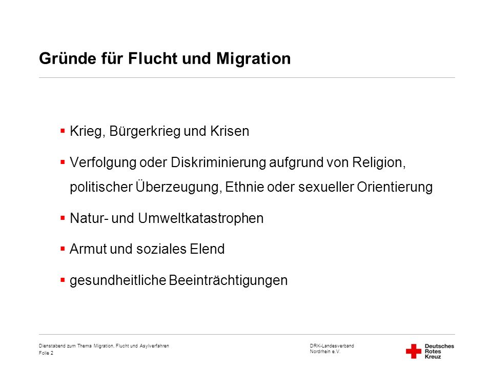 Gründe für Flucht und Migration
