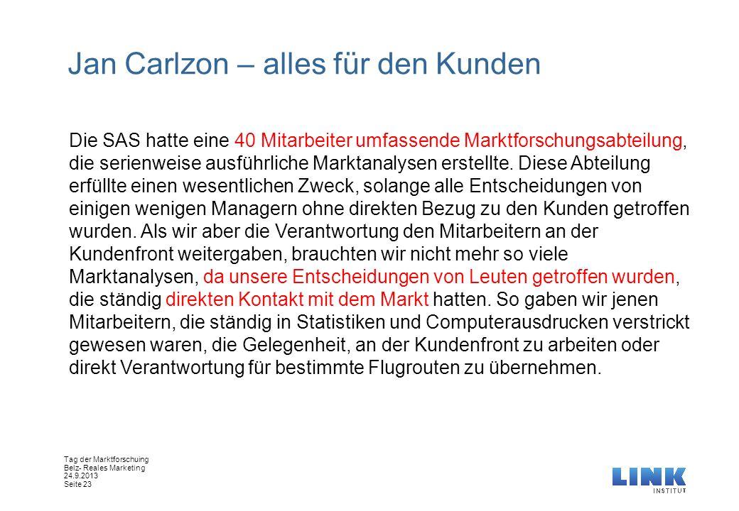Jan Carlzon – alles für den Kunden