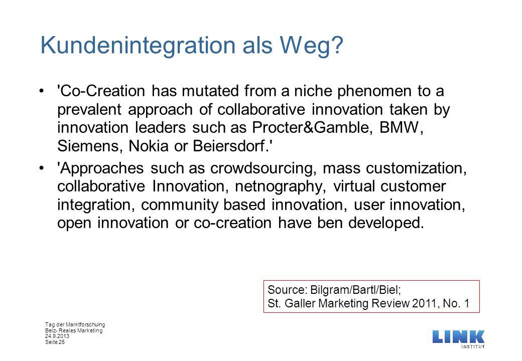 Kundenintegration als Weg