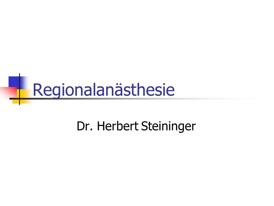 Regionalanästhesie Dr. Herbert Steininger