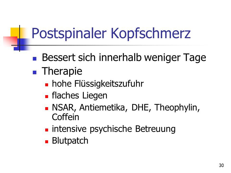 Postspinaler Kopfschmerz