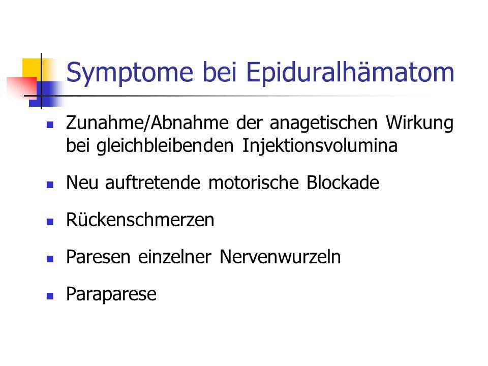Symptome bei Epiduralhämatom