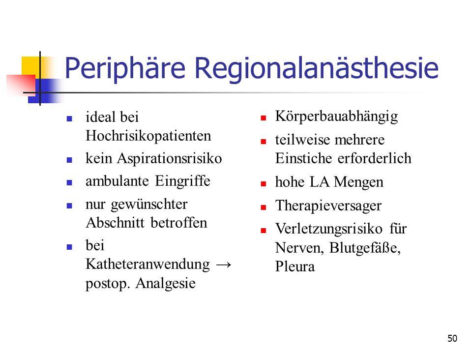 Periphäre Regionalanästhesie