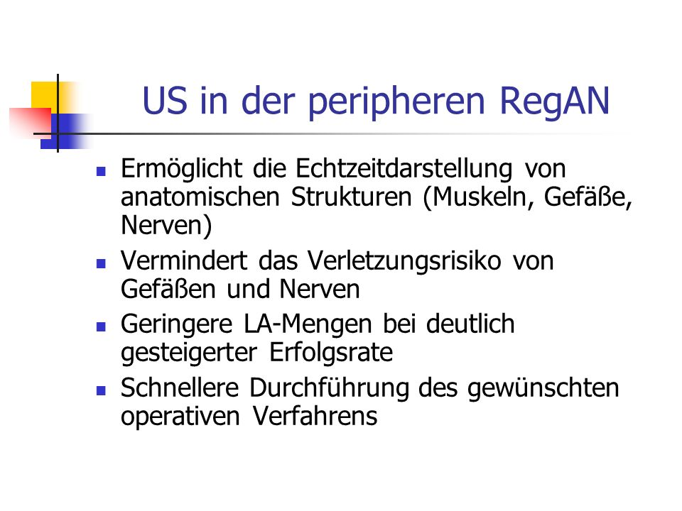 US in der peripheren RegAN