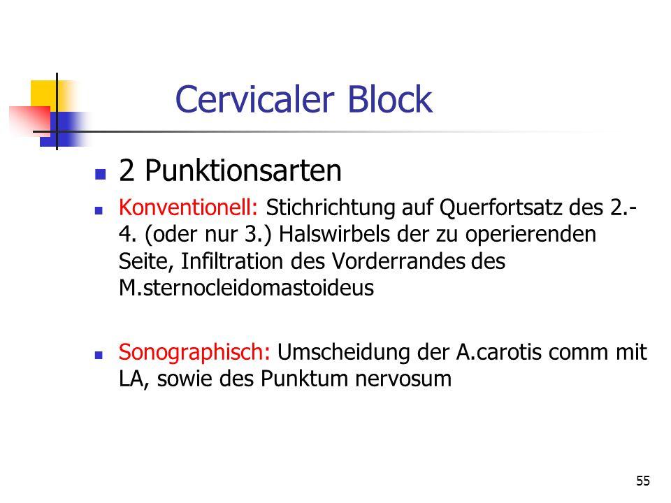Cervicaler Block 2 Punktionsarten
