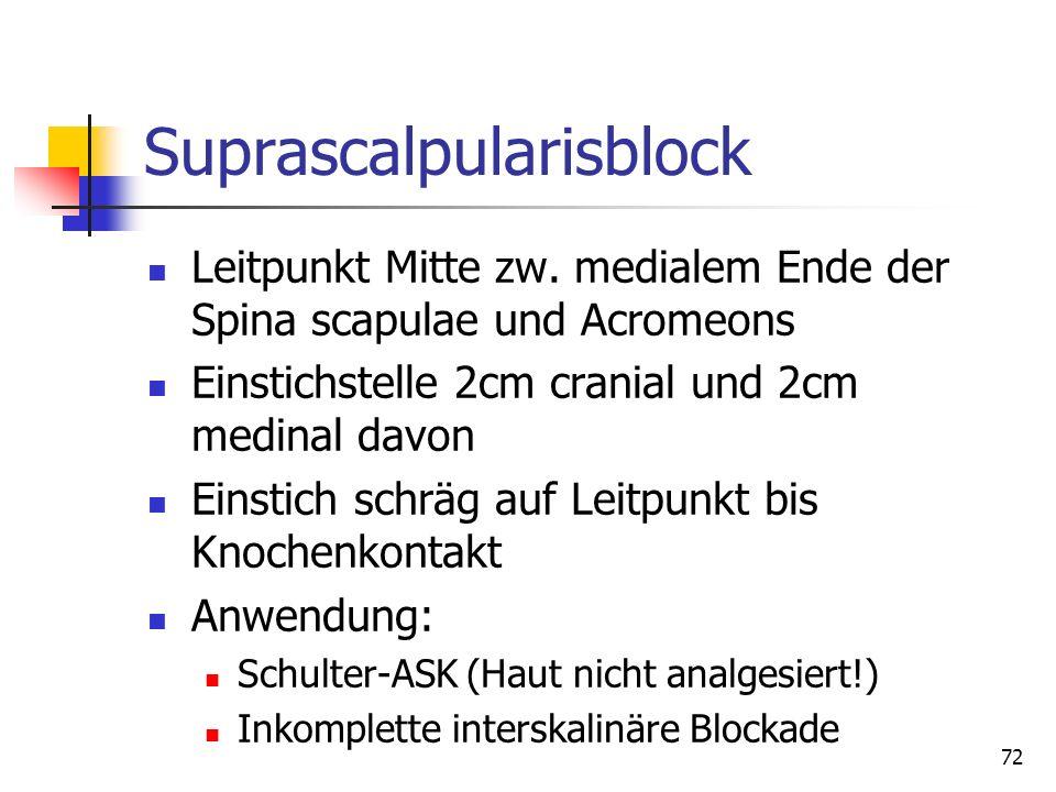 Suprascalpularisblock