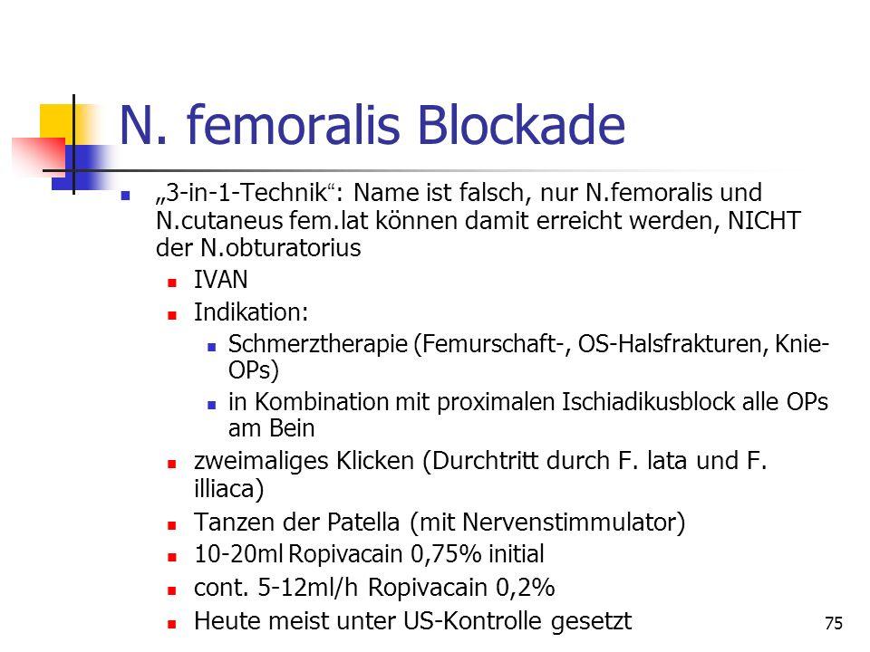 N. femoralis Blockade