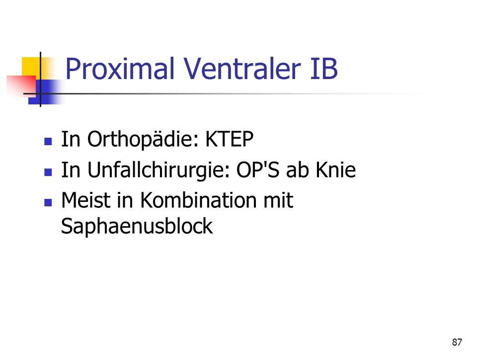 Proximal Ventraler IB In Orthopädie: KTEP