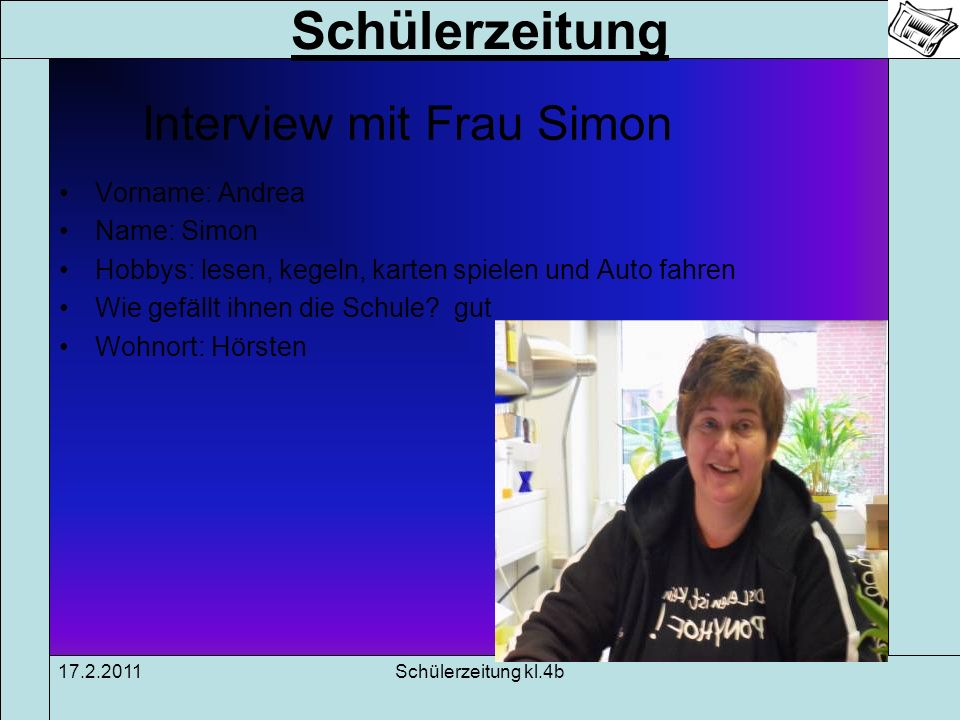 Interview mit Frau Simon