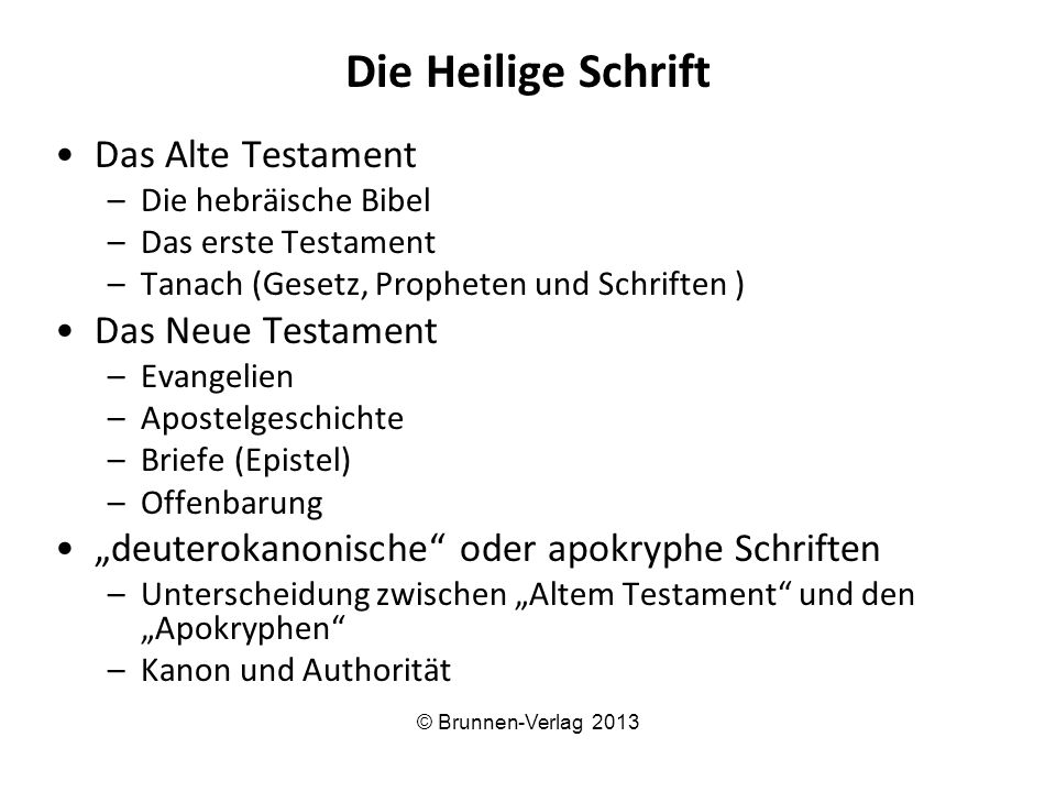 Die Heilige Schrift Das Alte Testament Das Neue Testament
