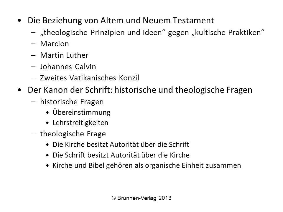Die Beziehung von Altem und Neuem Testament