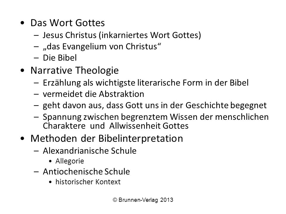 Methoden der Bibelinterpretation