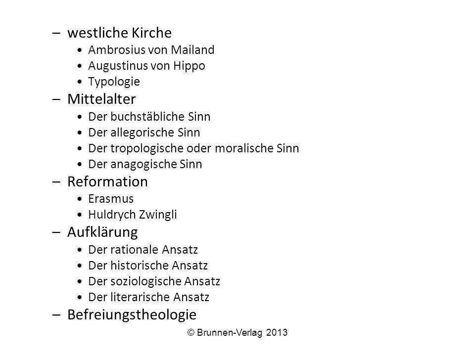 westliche Kirche Mittelalter Reformation Aufklärung