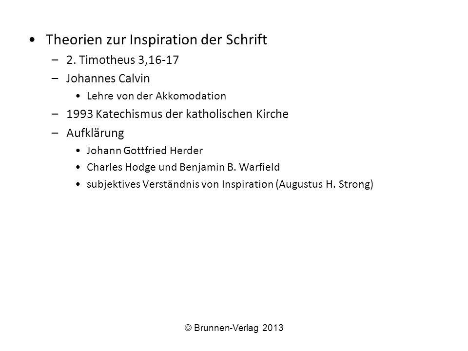 Theorien zur Inspiration der Schrift