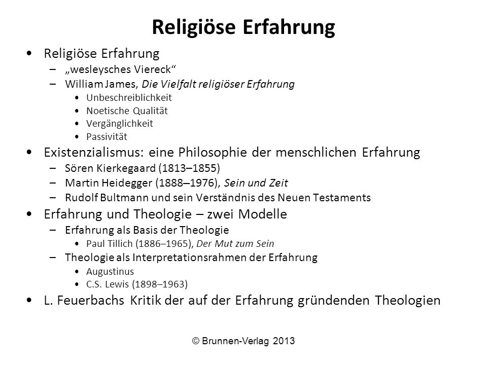 Religiöse Erfahrung Religiöse Erfahrung