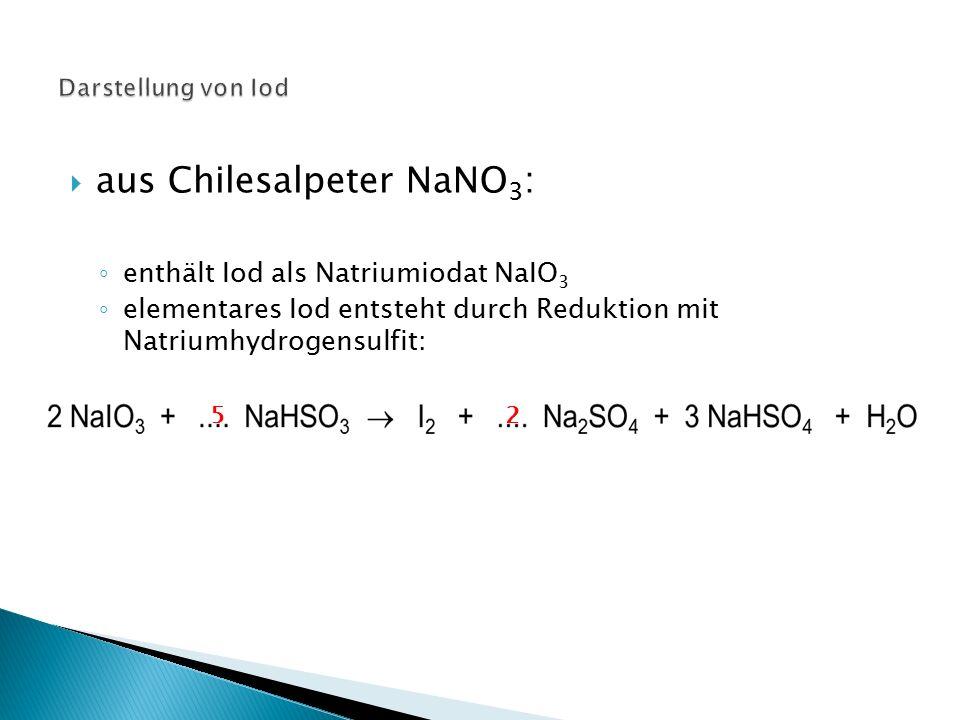 aus Chilesalpeter NaNO3: