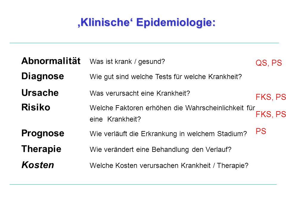 'Klinische' Epidemiologie: