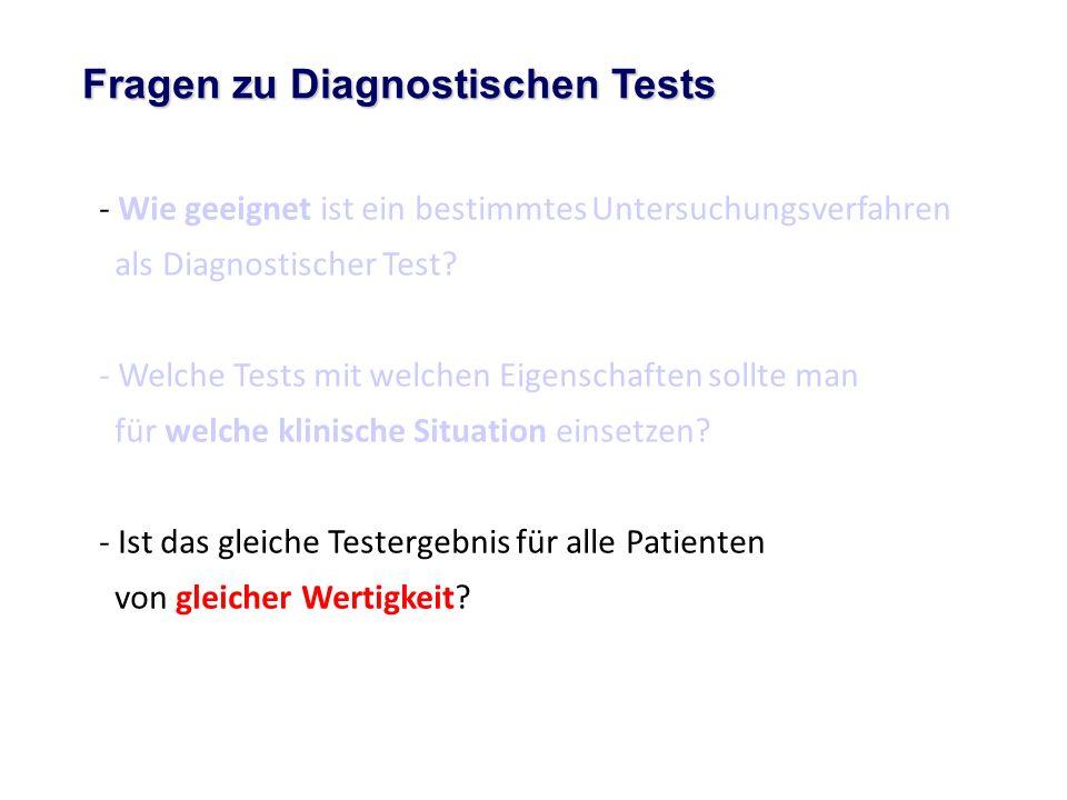 Fragen zu Diagnostischen Tests