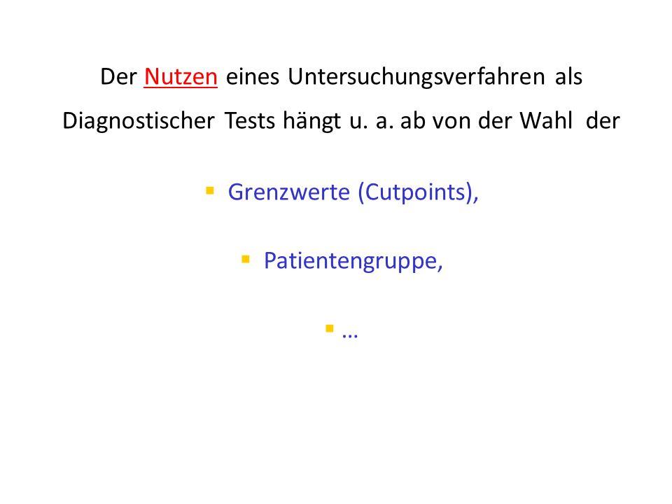 Grenzwerte (Cutpoints),