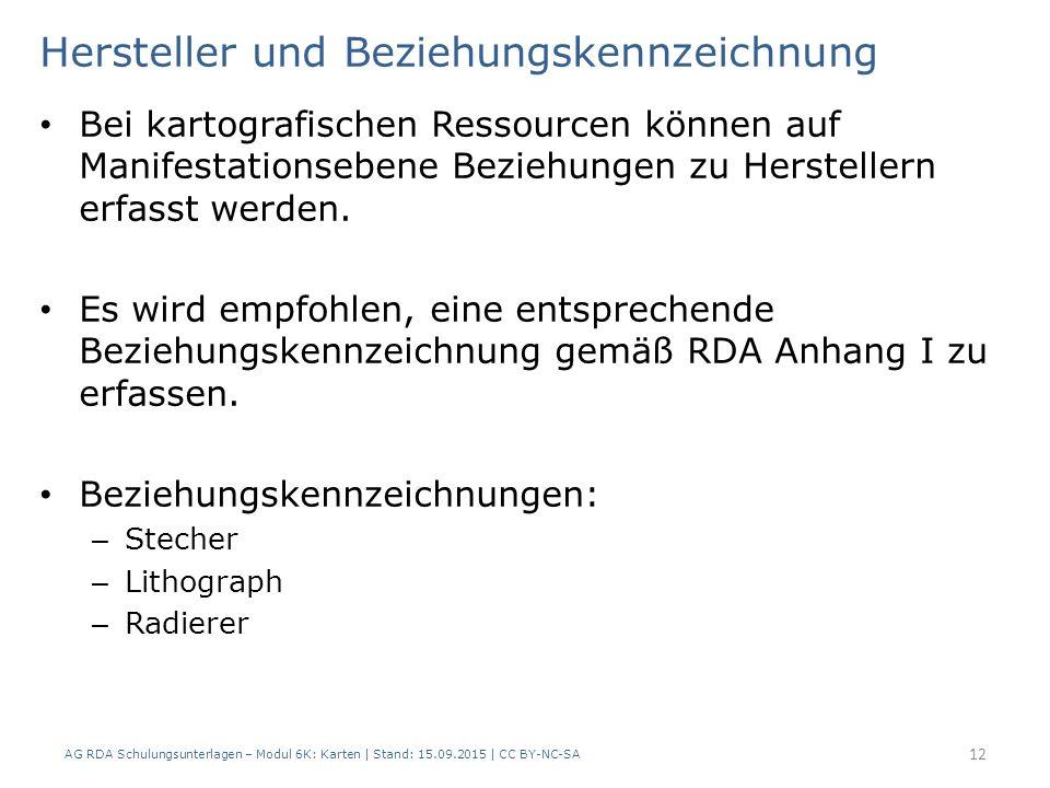 Hersteller und Beziehungskennzeichnung